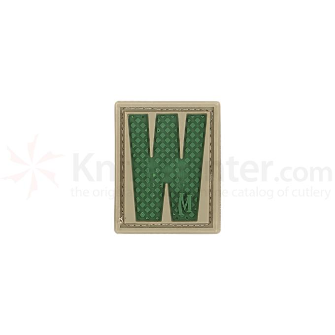 Maxpedition LETWA PVC Letter W Patch, Arid