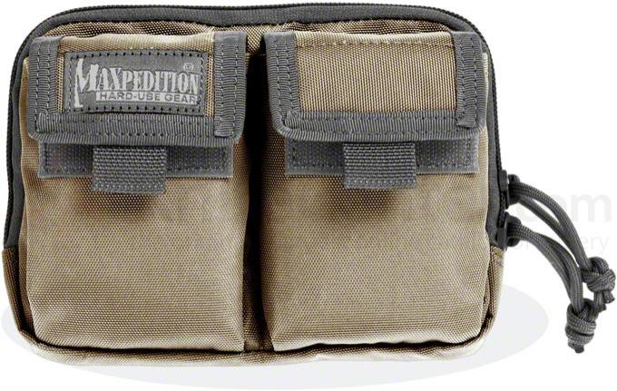 Maxpedition 3517KF Hook-&-Loop Double Pocket Insert, Khaki-Foliage