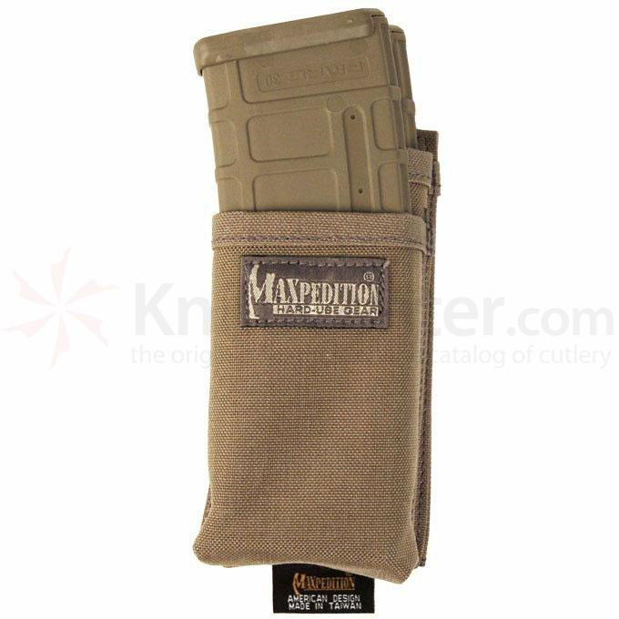 Maxpedition 9835KF Hook-and-Loop Modular Insert for Two (2) M4/M16 Magazines, Khaki-Foliage