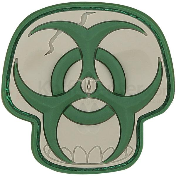 Maxpedition PVC Biohazard Skull Patch, Arid