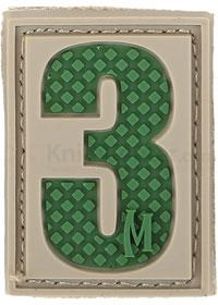 Maxpedition PVC Number 3 Patch, Arid