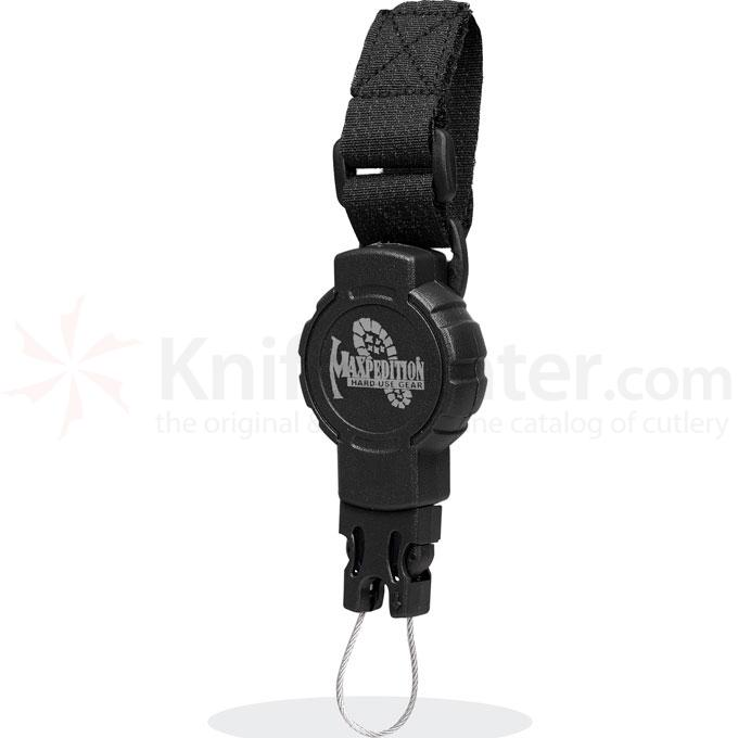 Maxpedition RS2B Tactical Gear Retractor, Small, Strap, Black