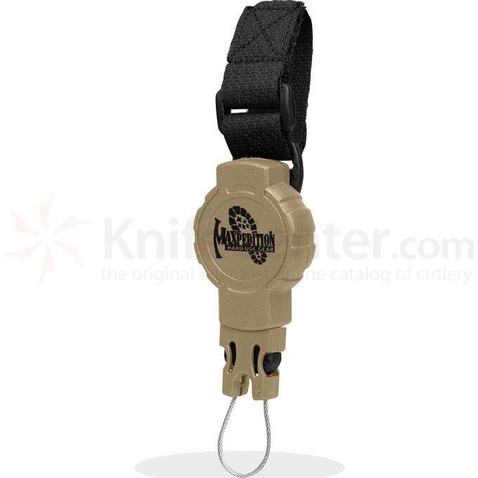 Maxpedition RS2K Tactical Gear Retractor, Small, Strap, Khaki