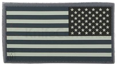 Maxpedition PVC Small Reverse USA Flag Patch, SWAT