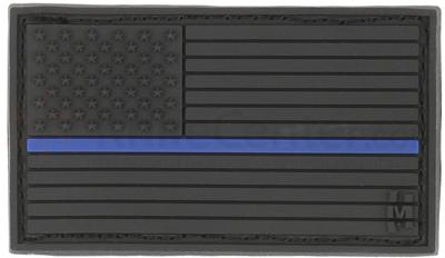 Maxpedition PVC Small USA Flag Patch, Law Enforcement Thin Blue Line