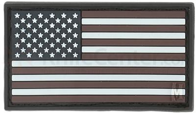 Maxpedition PVC Small USA Flag Patch, Glow