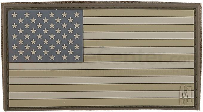 Maxpedition PVC Large USA Flag Patch, Arid