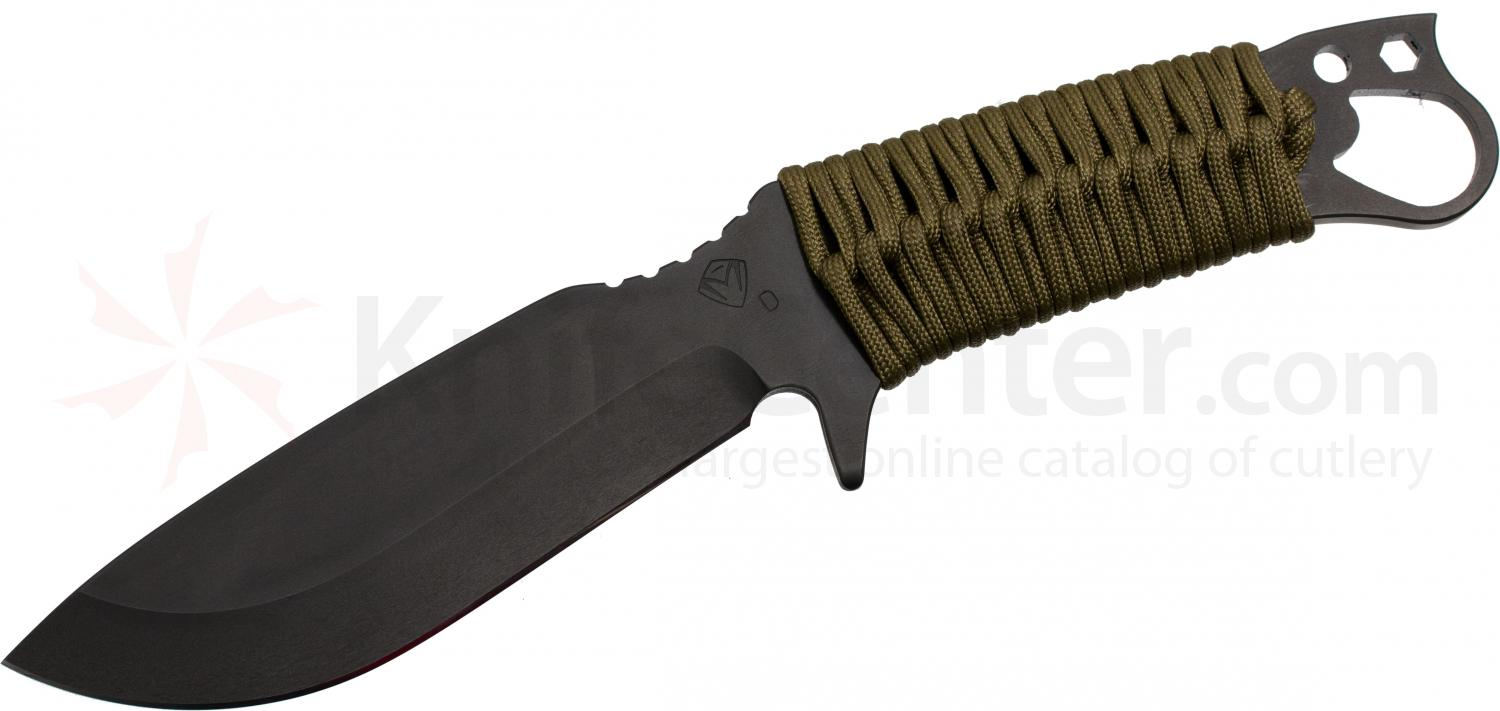 Medford 1911 Bowie Fixed 5-1/4 inch Black D2 Plain Blade, Coyote Brown Handle, Coyote Kydex Sheath