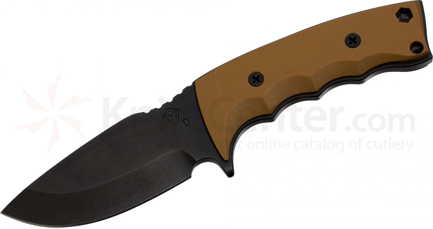 Medford NAV-H Tactical Fixed 4 inch Black D2 Plain Blade, Coyote Brown G10 Handle, Coyote Kydex Sheath