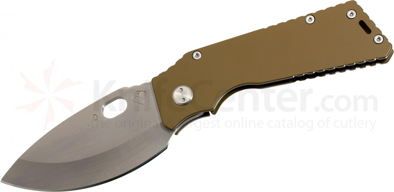 Medford TFF1 Tactical Fighting Folder 4-1/2 inch D2 Plain Spear Point Blade, Coyote Brown Titanium Handles