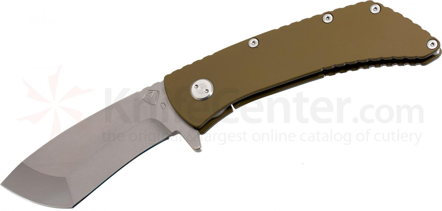 Medford TFF2 TF Series Folder 4 inch D2 Satin Plain Tanto Blade, Coyote Brown Titanium Handles