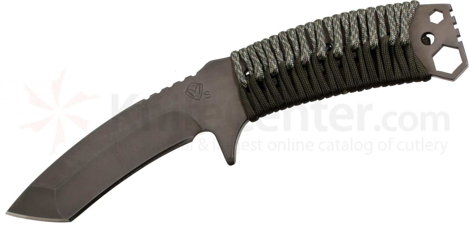 Medford TST1 Tactical Service Tanto Fixed 2.25 inch Black D2 Plain Blade, ACU/OD Handle, OD Green Kydex Sheath