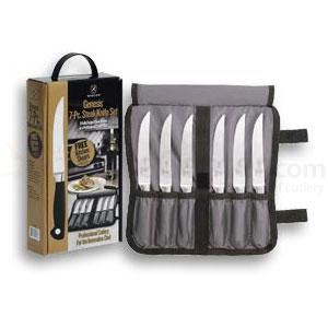 Mercer Cutlery 7 Piece Steak Set w/ wrap