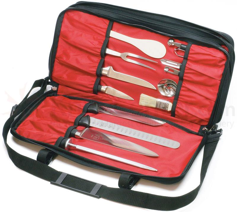 mercer cutlery triple zip knife case bag holds up to 30 pieces knifecenter m30429m. Black Bedroom Furniture Sets. Home Design Ideas