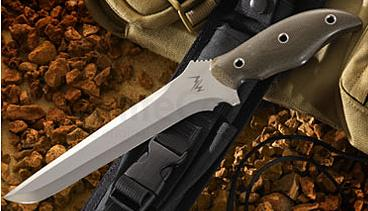 Mercworx TANTO Chili Pepper Handle S30V 7.5 inch Double Edged Blade