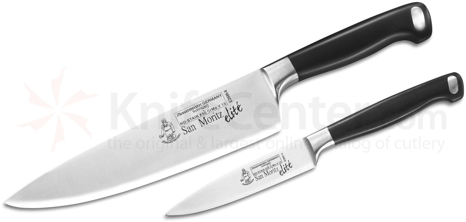 Messermeister San Moritz Elite 2 Piece Chef's Knife and Parer Set