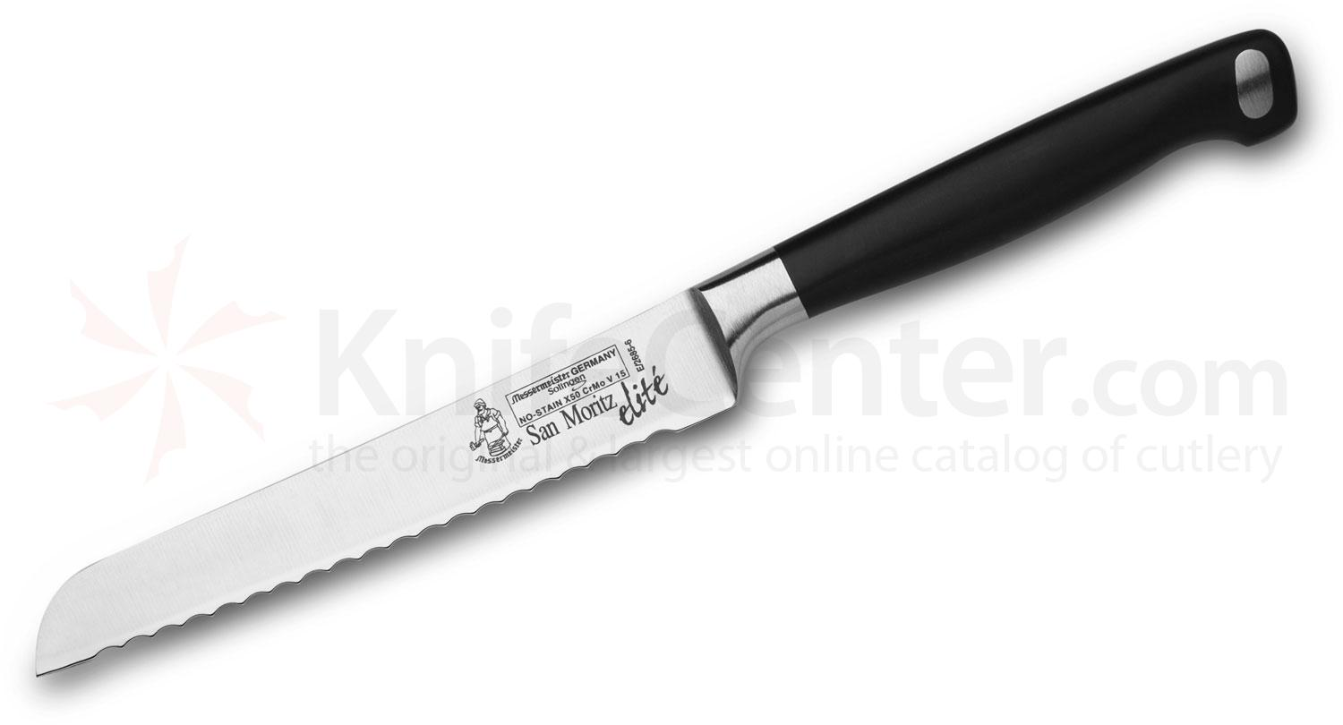 Messermeister San Moritz Elite 5 inch Scalloped Utility / Bread Knife