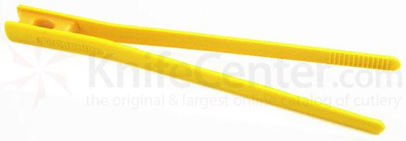 Messermeister 10-1/2 inch Chopstick Food Tongs, Yellow (Resistant up to 390°F)