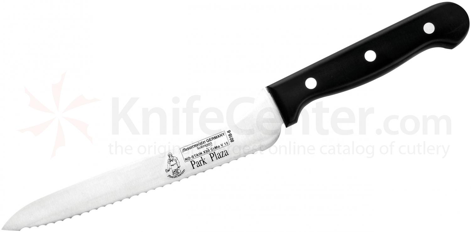 Messermeister Park Plaza 6 inch Scalloped Offset Bread and Sandwich Knife