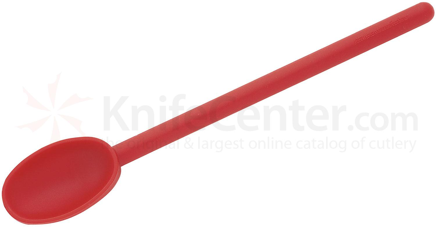 Messermeister 12 inch High Heat Spoon, Red (Resistant up to 430°F)