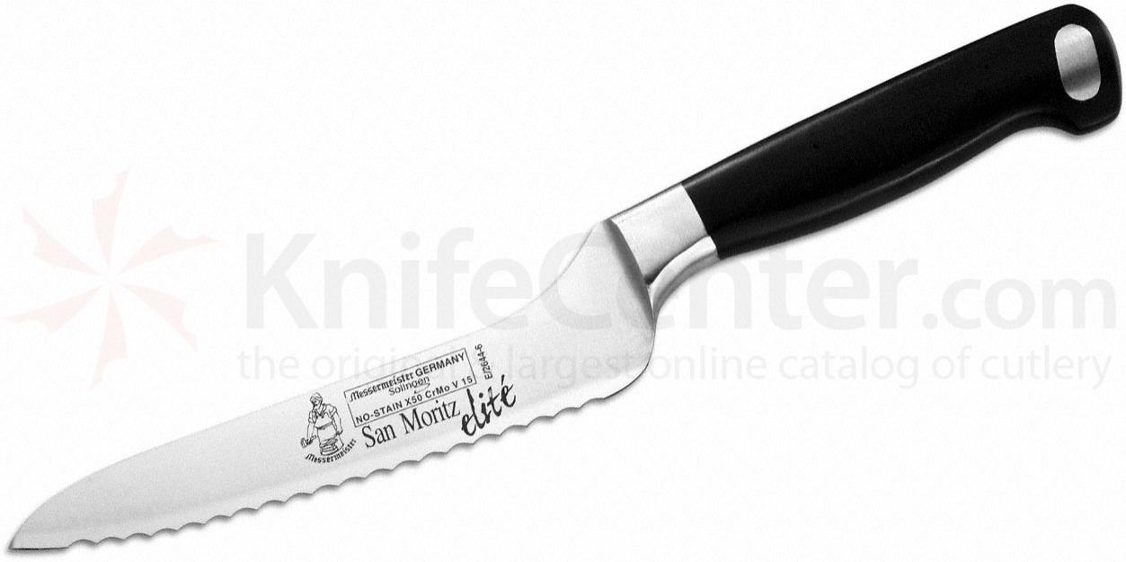 Messermeister San Moritz Elite 6 inch Scalloped Offset Knife