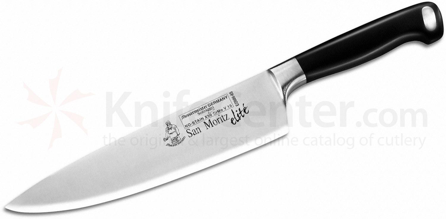 Messermeister San Moritz Elite 8 inch Stealth Chef's Knife, POM Handle