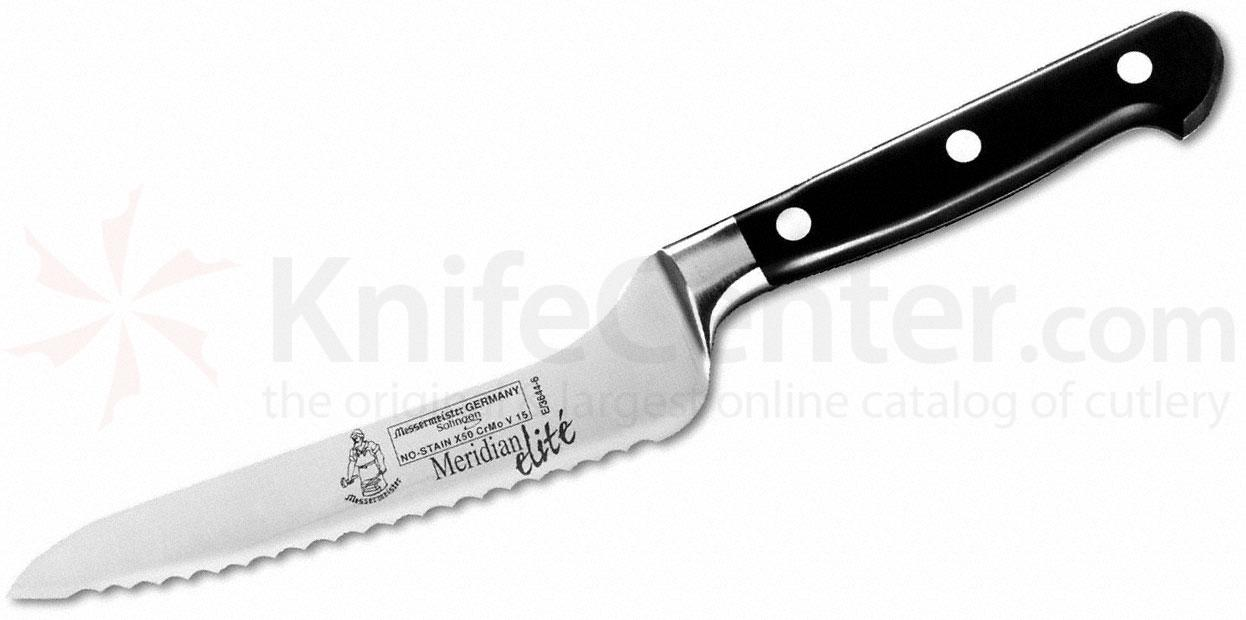 Messermeister Meridian Elite 6 inch Offset Serrated Bread and Sandwich Knife