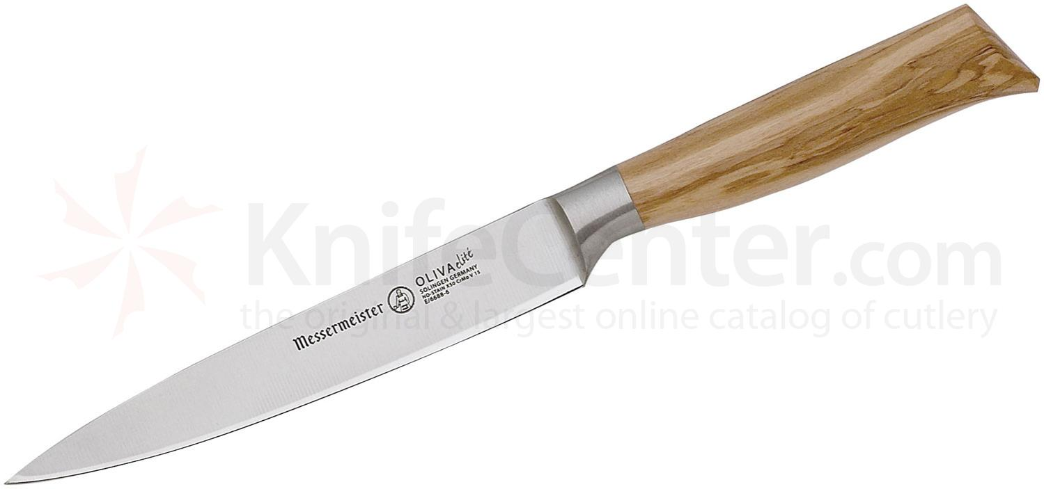 Messermeister Oliva Elite 6 inch Utility Knife, Olive Wood Handle