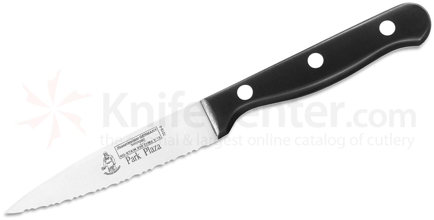 Messermeister Park Plaza 4 inch Serrated Spear Point Paring Knife