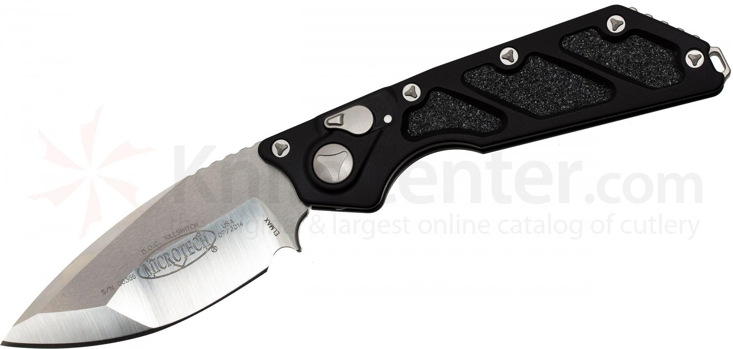 Microtech 154-4 DOC Killswitch Death on Contact AUTO 4 inch Satin Plain Blade, Aluminum Handles
