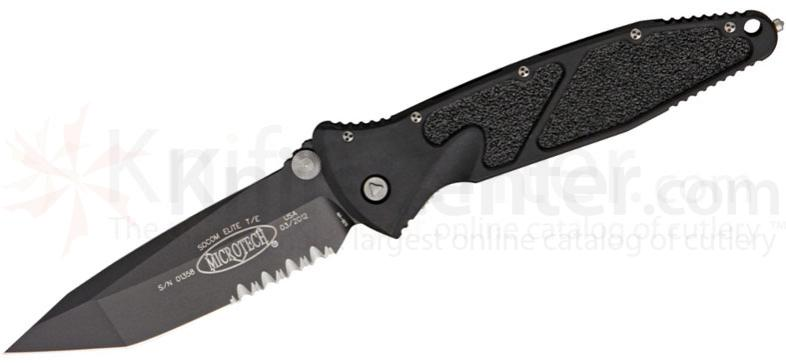 Microtech 161-2 Socom Elite Manual 4.05 inch Black Combo Tanto Blade