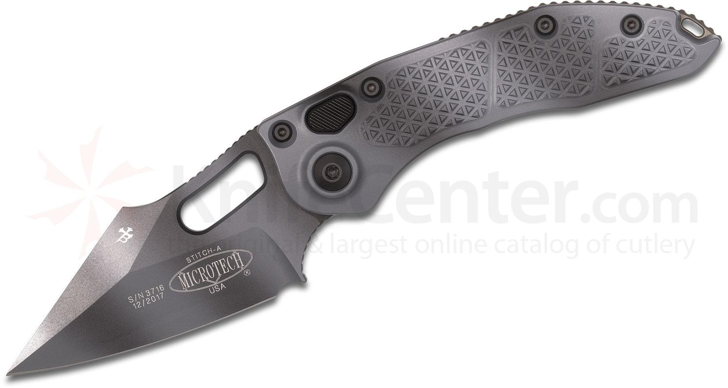 Microtech/Borka Blades 169-1UC AUTO Stitch 3.625 inch Urban Camo Spear Point Blade and Aluminum Handles