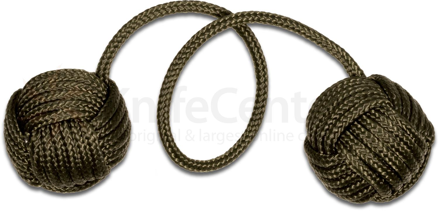 Monkey Fist Begleri Green Arrow 5 inch OD Green Paracord -- Free with BRS Bladerunners Systems Barebones Purchase