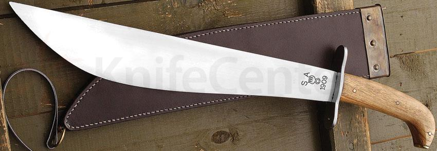 Museum Replica 1909 US Issue Bolo Knife, 19-1/2 inch Overall, Leather Sheath