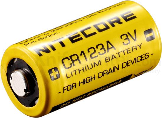 NITECORE CR123A Lithium Battery 2-Pack, Non-Rechargeable