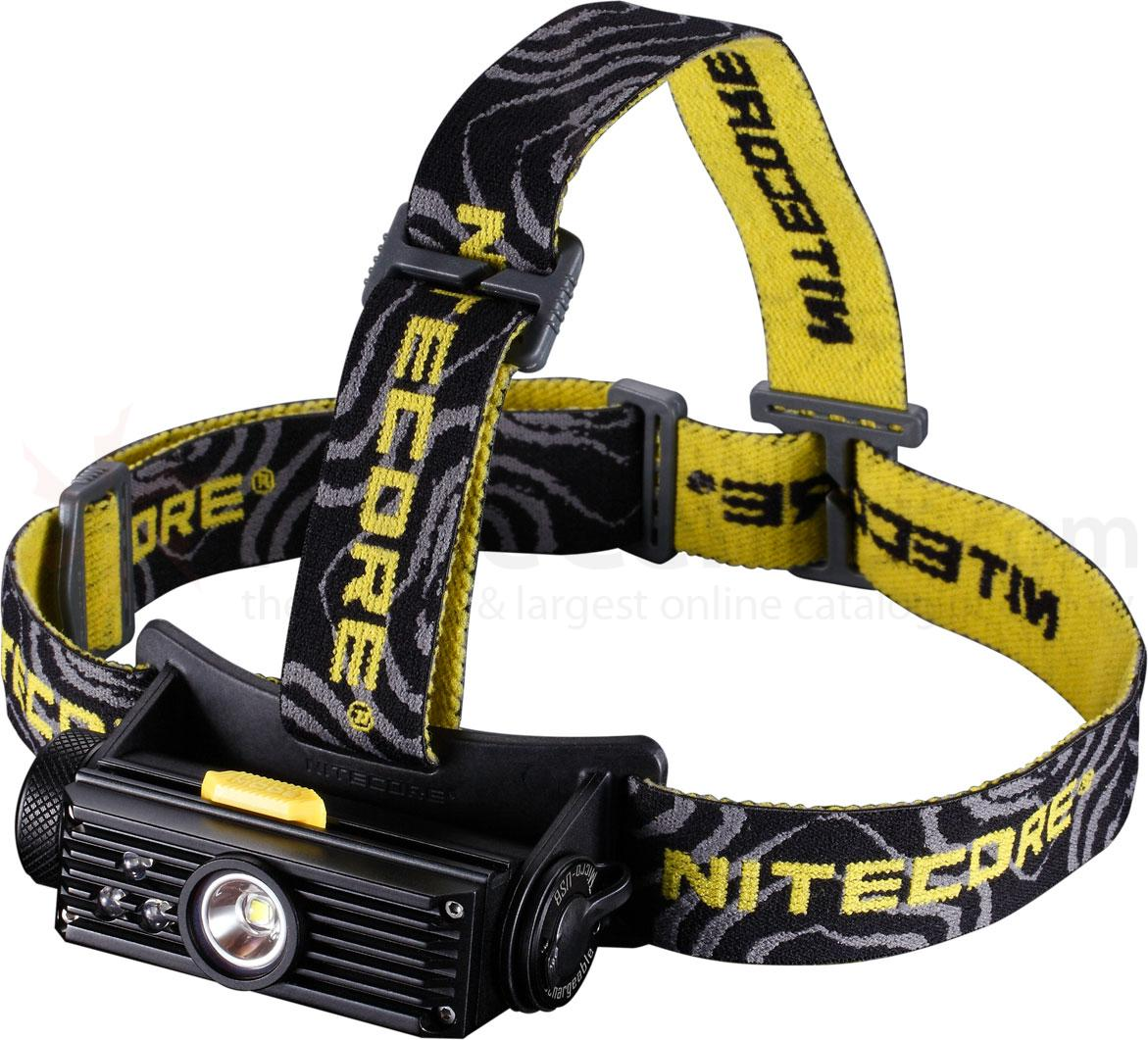 NITECORE HC90 Rechargeable 18650 LED Headlamp, Black, 900 Max Lumens