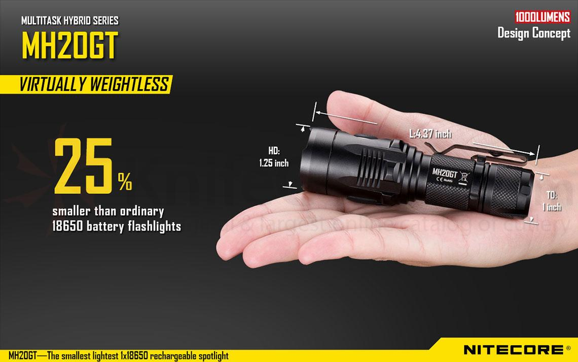 NITECORE MH20GT Multi-Task Hybrid Rechargeable LED ...