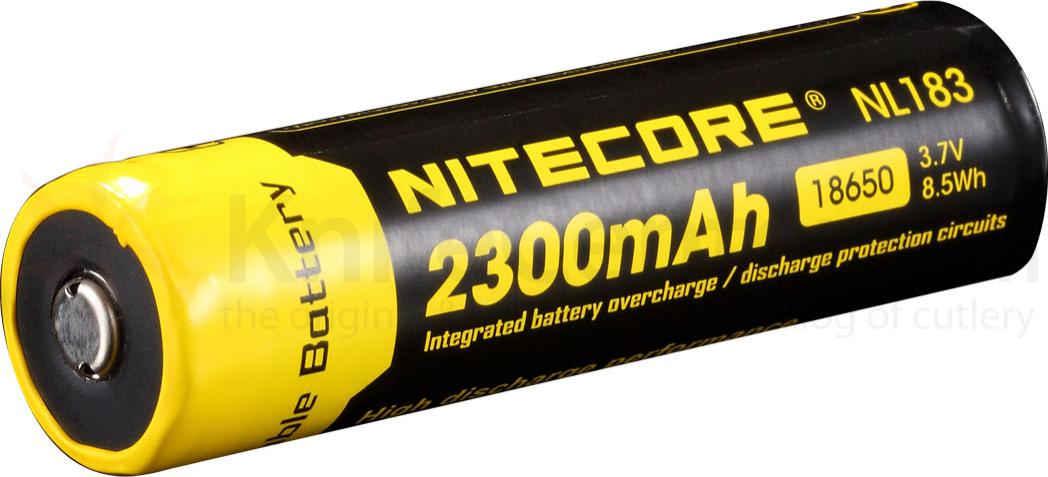 NITECORE NL183 18650 Rechargeable Lithium Battery, 2300mAh