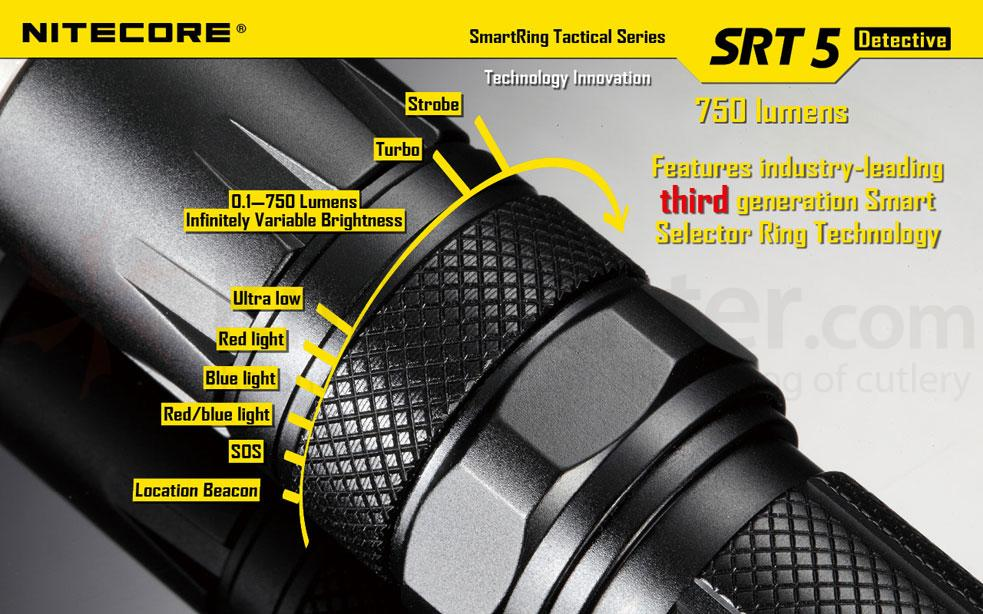 NITECORE SmartRing Tactical SRT5 Detective CR123 LED ...