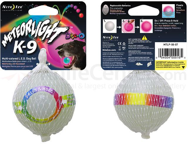 Nite Ize MeteorLight K-9 Ball, Disc-O LED (MTLP-08-07)