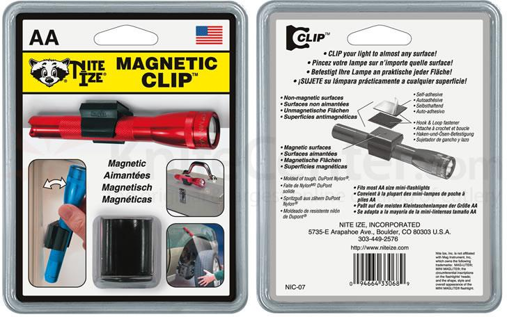 Nite Ize Magnetic Clip First Most AA Size Mini Flashlights