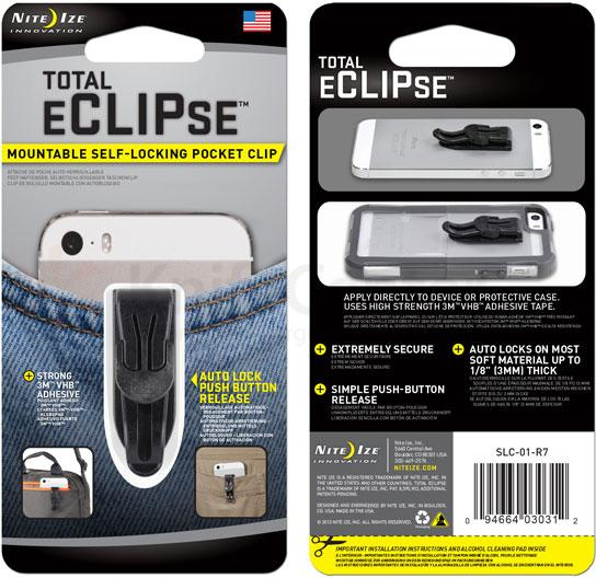 Nite Ize Total eCLIPse Mountable Self-Locking Pocket Clip (SLC-01-R7)