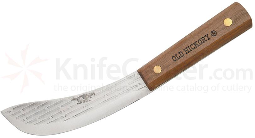 Old Hickory Skinning Field Knife 6 inch Blade, Hardwood Handle