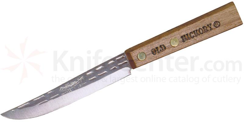 Ontario Old Hickory Paring Knife 4 inch Blade, Hickory Handles
