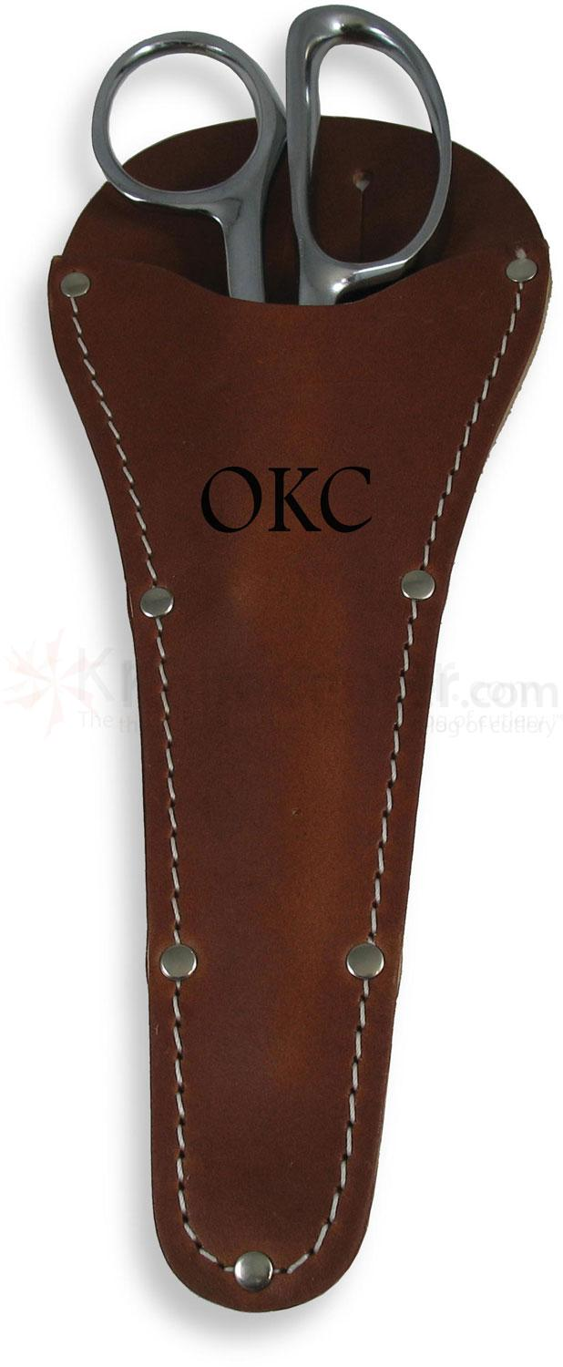 Ontario Upland Game Shears 3 inch Carbon Steel Blades, Leather Sheath