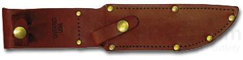 Ontario Sheath Fits P3 Quartermaster Knife, Brown Leather