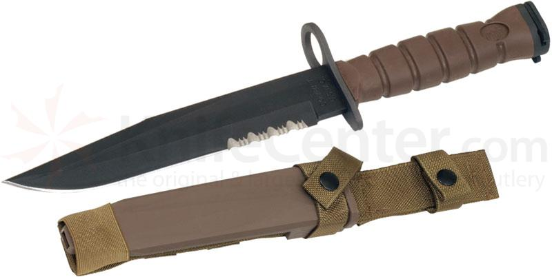 Ontario Okc3s Khaki Brown Usmc Bayonet 8 Quot Blade And