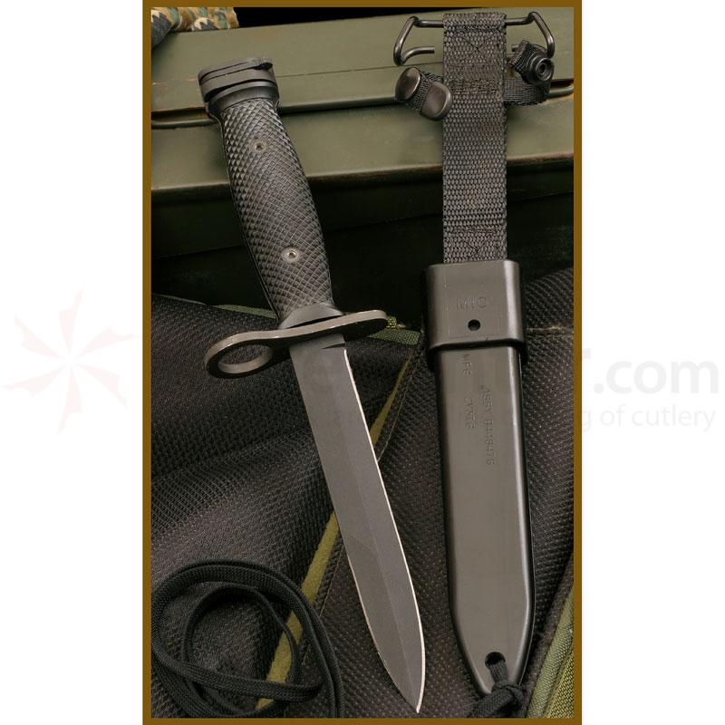 Ontario 494 M7 Bayonet 6.75 inch Carbon Steel Blade and Sheath