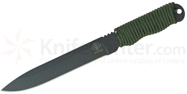 Ontario Ranger Series Shank Knife 6.5 inch Fixed Blade, Green Cord Wrap Handle