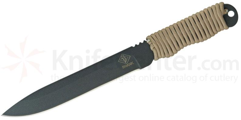 Ontario Ranger Series Shank Knife 6.5 inch Fixed Blade, Tan Cord Wrap Handle